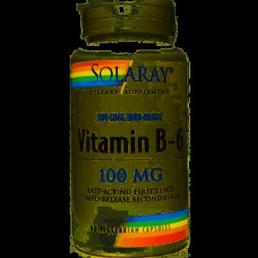Vitamina B-6 100mg. Solaray