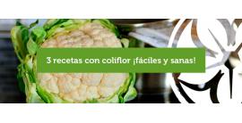 3 recetas con coliflor ¡fáciles y sanas!