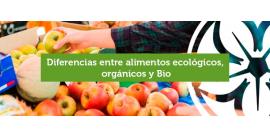 Diferencias entre alimentos ecológicos, orgánicos y Bio